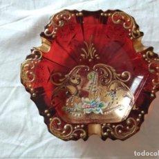 Antigüedades: CENICERO DE CRISTAL. Lote 205390291
