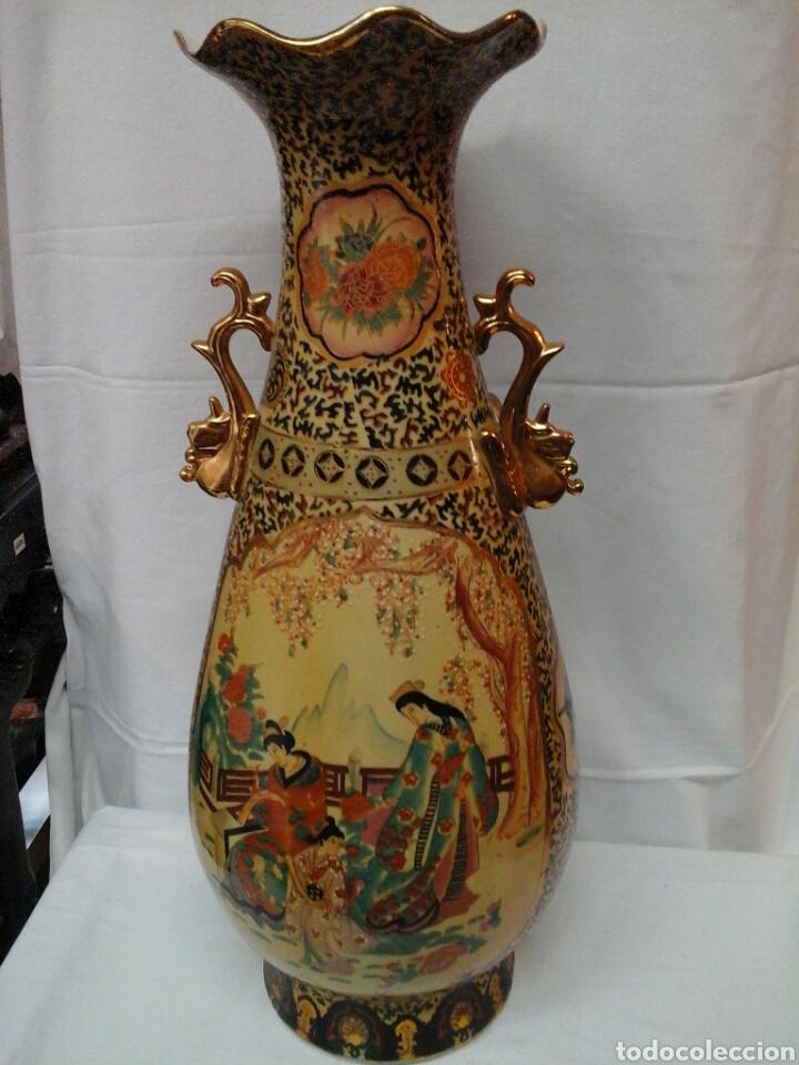 JARRON PORCELANA TIPO SATSUMA (Antigüedades - Porcelanas y Cerámicas - China)