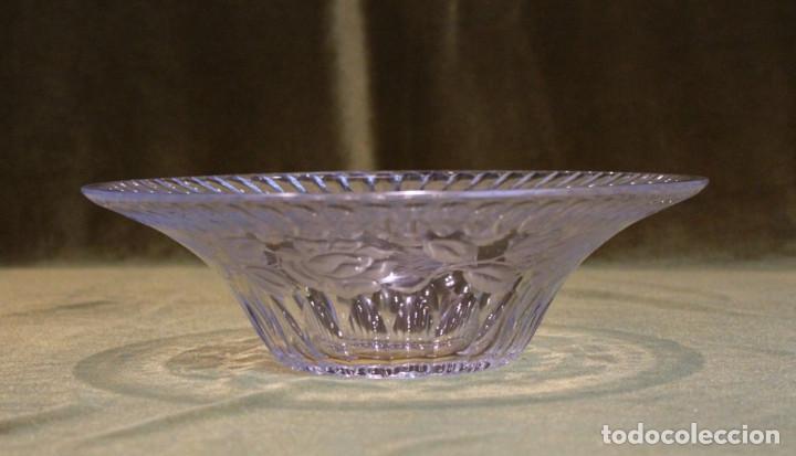 Antigüedades: Frutero cristal tallado, diámetro 28 cm - Foto 2 - 205403020