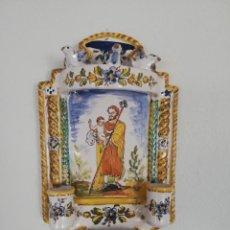 Antigüedades: EXCLUSIVA Y POCO VISTA BENDITERA SAN JOSE Y NIÑO JESUS DE GRAN TAMAÑO. Lote 205433853