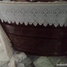 Antiguidades: GRAN PAÑO MESA ALTAR CAPILLA SEMANA SANTA ENCAJE RED 4 METROS X 30 CM TOCADO VIRGEN SUDARIO CRISTO. Lote 205434662