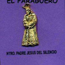 Antigüedades: CRISTO DE ORO DE 24 KILATES LAMINADO ( NUESTRO PADRE JESUS DEL SILENCIO SEMANA SANTA SEVILLA - Nº10. Lote 205437301