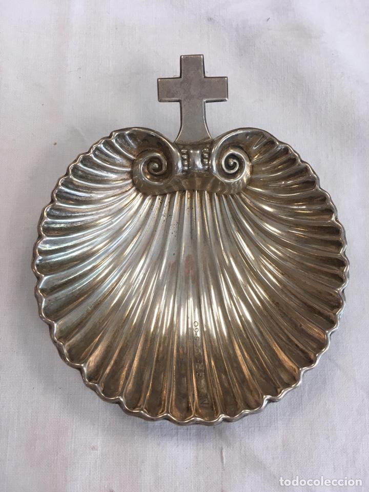 CONCHA CRISTIANAR BAUTIZAR (Antigüedades - Platería - Plata de Ley Antigua)