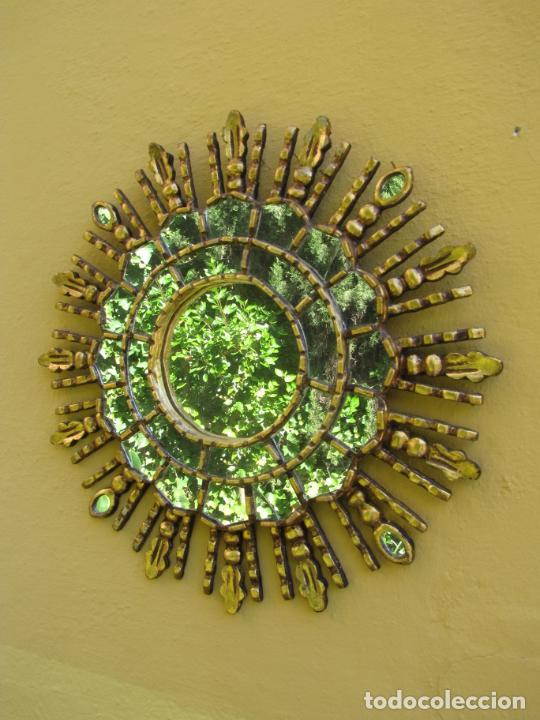 ESPEJO SOL MADERA (Antigüedades - Muebles Antiguos - Espejos Antiguos)