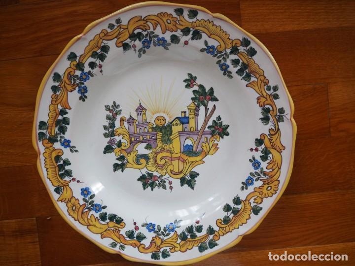 PLATO CERÁMICA RIBESALBES FIGAS MARCADO Y NUMERADO. (Antigüedades - Porcelanas y Cerámicas - Ribesalbes)