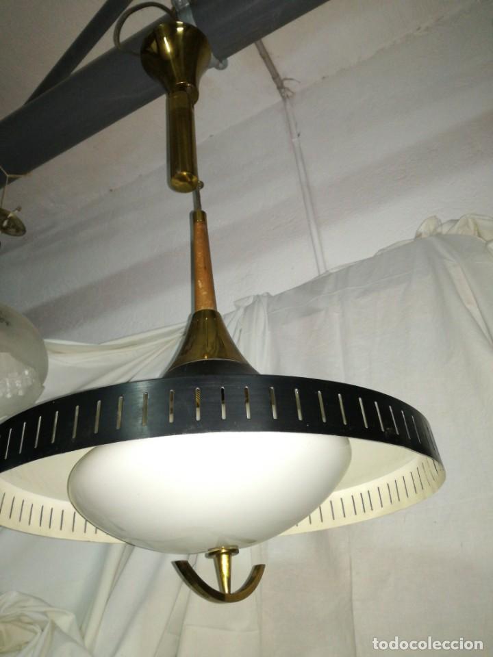 GRAN LÁMPARA SUBE BAJA CONTRAPESO VINTAGE (Antigüedades - Iluminación - Lámparas Antiguas)