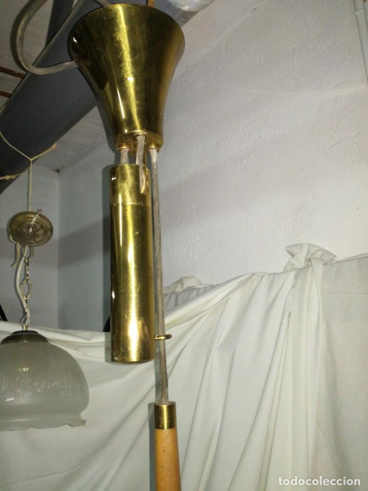 Antigüedades: Gran lámpara sube baja contrapeso vintage - Foto 2 - 205452452
