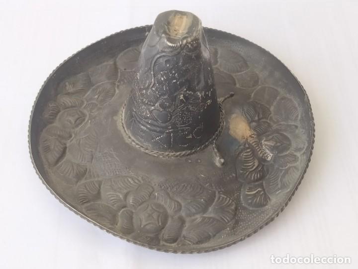 Antigüedades: Antiguo SUMBRERO MEXICANO DE PLATA MACIZA DE LEY 925 PESA 52Gr - Foto 5 - 205452501
