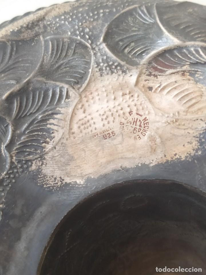 Antigüedades: Antiguo SUMBRERO MEXICANO DE PLATA MACIZA DE LEY 925 PESA 52Gr - Foto 11 - 205452501