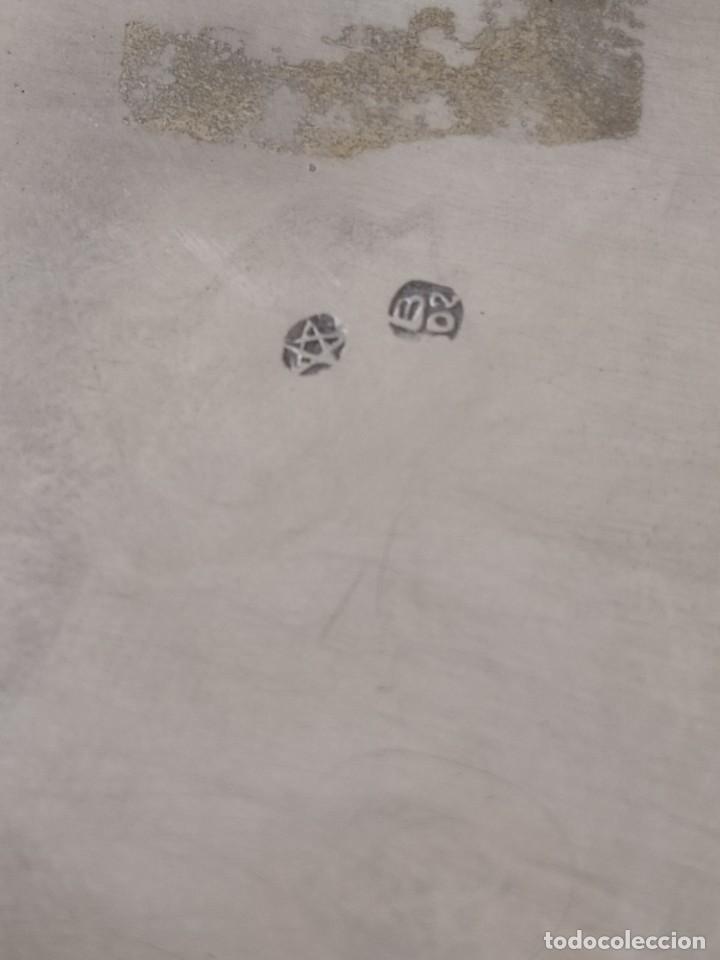 Antigüedades: CENICERO DE PLATA MACIZA DE LEY ESPAÑOLA 925 PESA 62 Gr - Foto 5 - 205452751