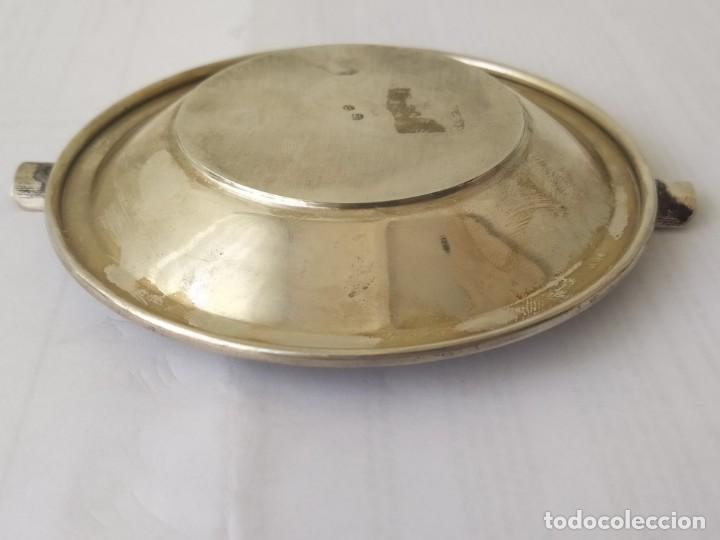 Antigüedades: CENICERO DE PLATA MACIZA DE LEY ESPAÑOLA 925 PESA 62 Gr - Foto 7 - 205452751