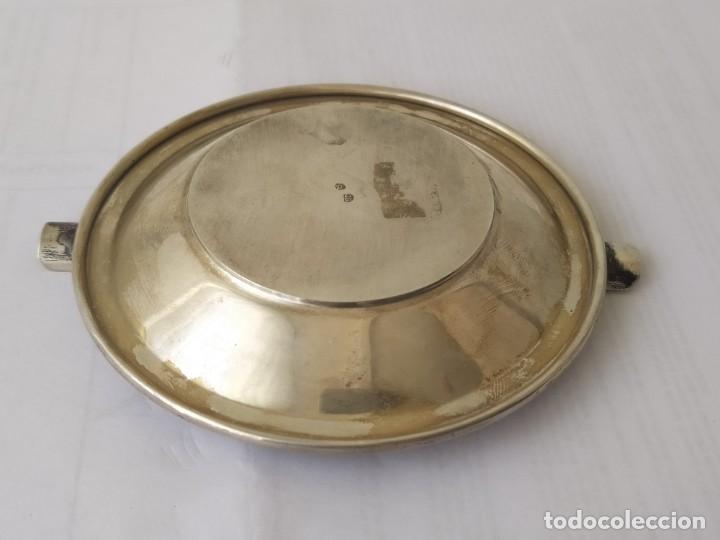 Antigüedades: CENICERO DE PLATA MACIZA DE LEY ESPAÑOLA 925 PESA 62 Gr - Foto 8 - 205452751