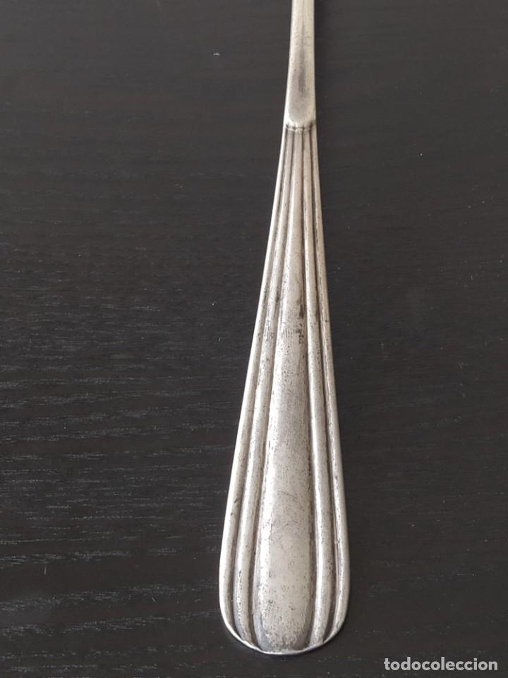 Antigüedades: ANTIGUA GRAN CUCHARA DE PLATA MACIZA DE LEY INGLESA PESA 130 GR - Foto 10 - 205453101