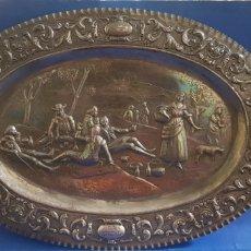 Antigüedades: BANDEJA DE PLATA 925 ESPAÑOLA LA MERIENDA. Lote 205456120