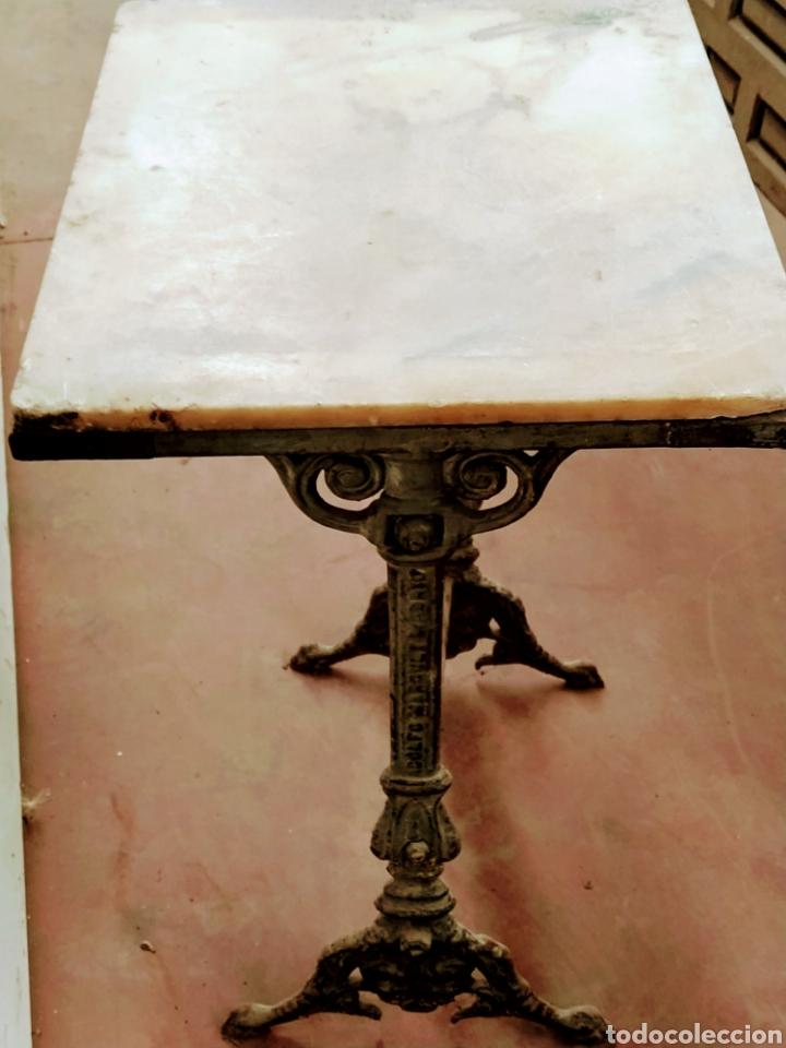 Antigüedades: Mesa velador hierro fundido siglo XIX. - Foto 5 - 205458470