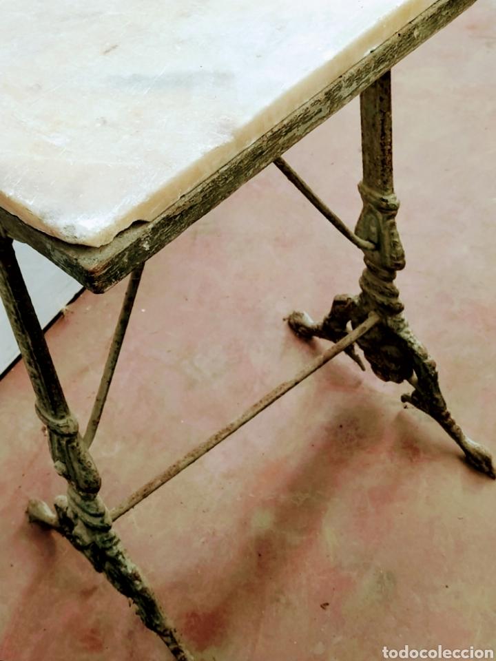 Antigüedades: Mesa velador hierro fundido siglo XIX. - Foto 7 - 205458470