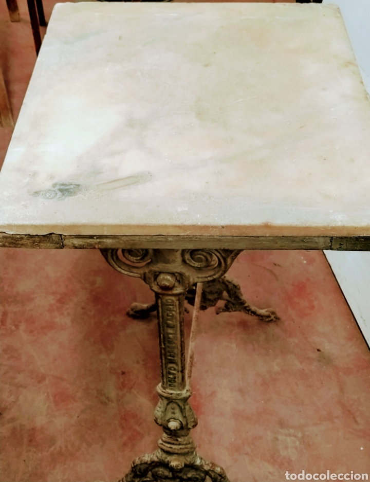 Antigüedades: Mesa velador hierro fundido siglo XIX. - Foto 8 - 205458470