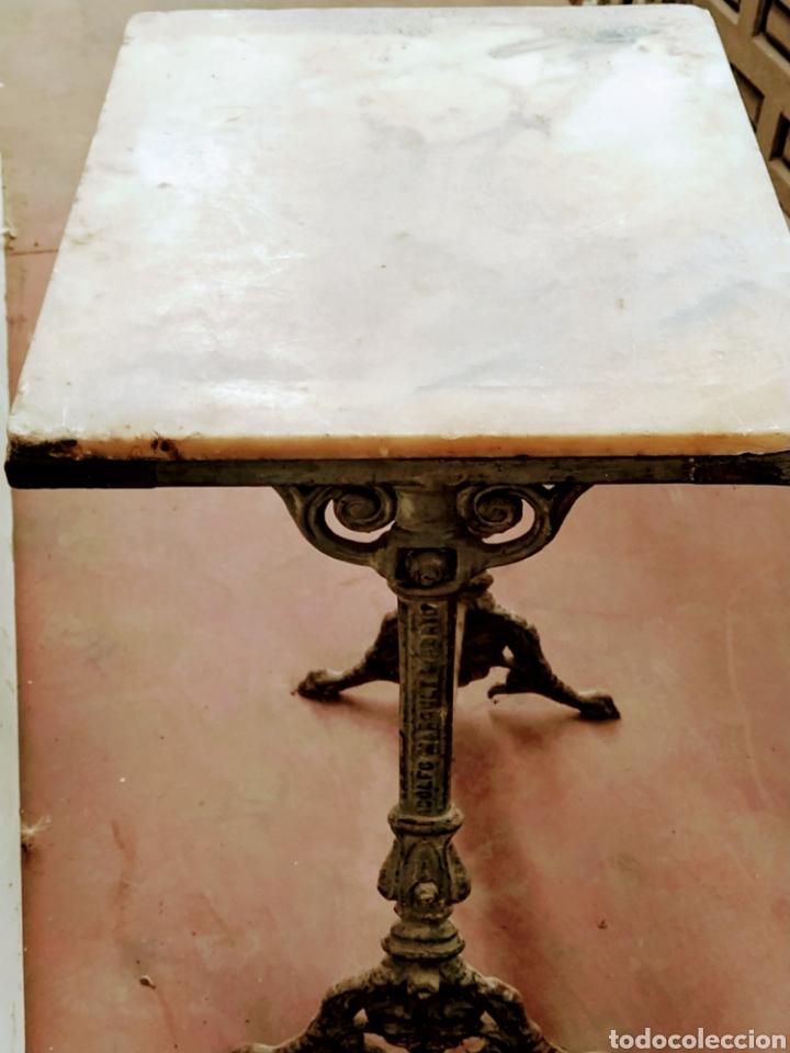 MESA VELADOR HIERRO FUNDIDO SIGLO XIX. (Antigüedades - Muebles Antiguos - Veladores Antiguos)
