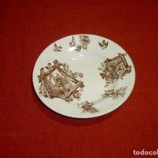 Antiquités: ANTIGUO PLATO DE CERÁMICA CEÑAL Y CÍA. - OVIEDO - 23 CM.. Lote 205459642