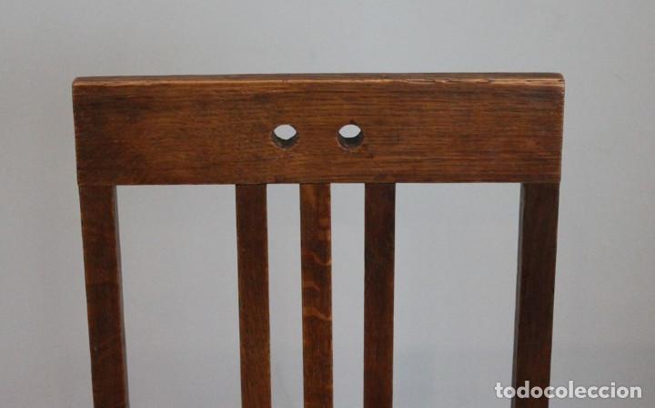 Antigüedades: Excelente pareja de sillas antiguas, años 30, madera maciza, altura 100 cm. - Foto 3 - 205463815