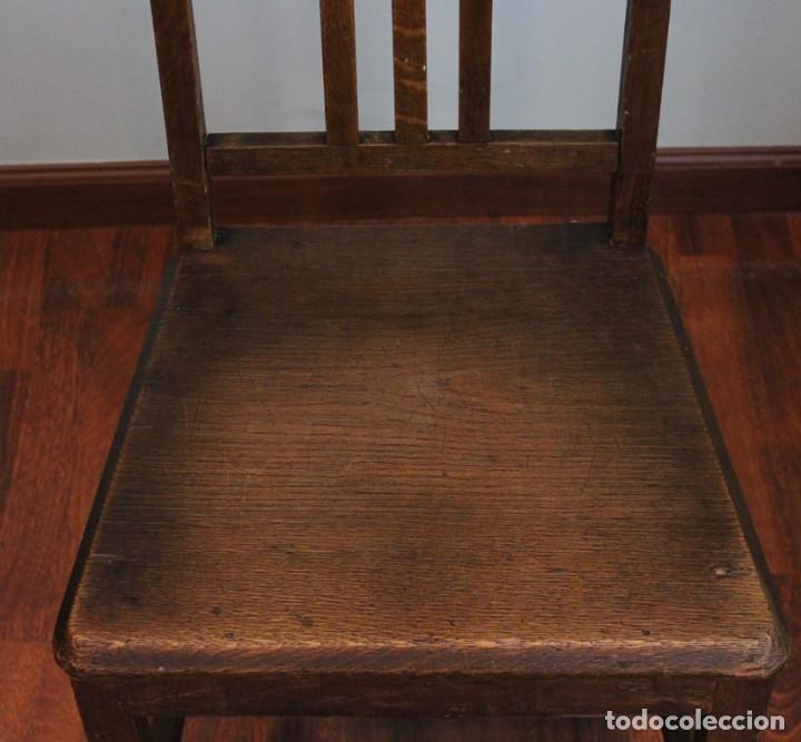 Antigüedades: Excelente pareja de sillas antiguas, años 30, madera maciza, altura 100 cm. - Foto 4 - 205463815