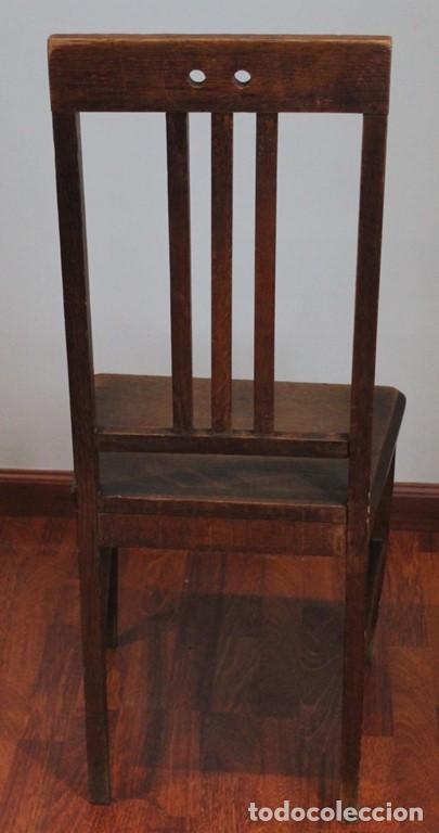 Antigüedades: Excelente pareja de sillas antiguas, años 30, madera maciza, altura 100 cm. - Foto 6 - 205463815