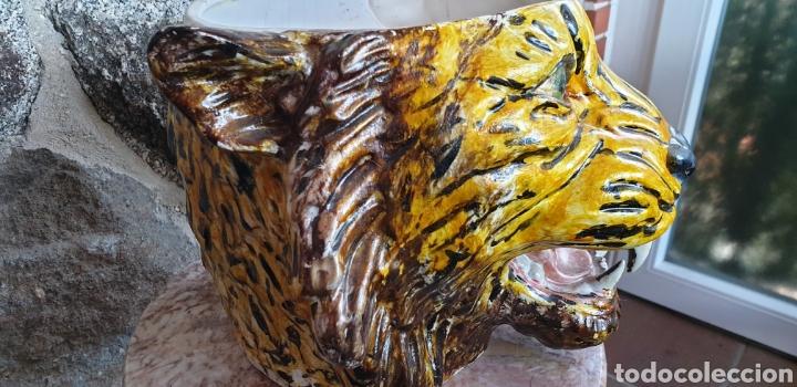 Antigüedades: Tiesto cabeza de tigre - Foto 2 - 205466313