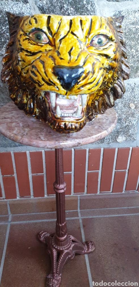 Antigüedades: Tiesto cabeza de tigre - Foto 3 - 205466313