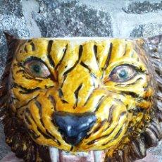 Antigüedades: TIESTO CABEZA DE TIGRE. Lote 205466313
