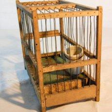 Antigüedades: JAULA DE PÁJAROS - BEBEDERO PORCELANA. Lote 205468973