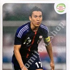 Antigüedades: Nº 404 MAKOTO HASEBE - JAPAN - JAPON - ROAD TO 2014 FIFA WORLD CUP BRAZIL BRASIL PANINI. Lote 205469366