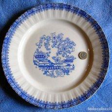 Antigüedades: GRAN PLATO / FUENTE PARA SERVIR - PORCELANA CHINA BLAU - SANTA CLARA - DE 31 CMS DE DIAMETRO. COCINA. Lote 205470526