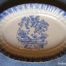 Antigüedades: FUENTE PORCELANA SANTA CLARA, CHINA BLAU. DE 25 CMS DE LARGO. COCINA. Lote 205470846