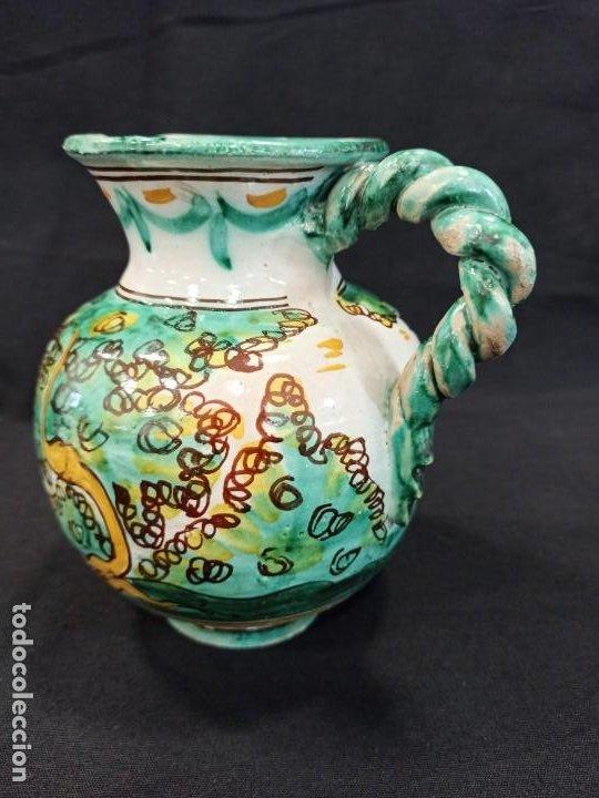 Antigüedades: Jarra de cerámica asa trenzada. Puente del Arzobispo. C10 - Foto 2 - 205512031