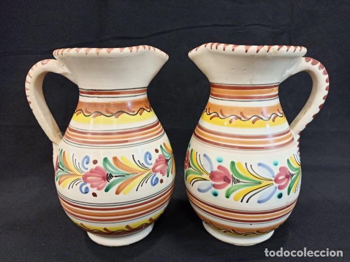 PAREJA DE JARRAS DE CERÁMICA. PUENTE DEL ARZOBISPO. C10 (Antigüedades - Porcelanas y Cerámicas - Puente del Arzobispo )