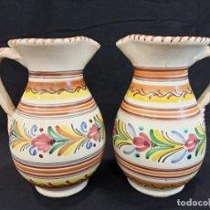 Antigüedades: PAREJA DE JARRAS DE CERÁMICA. PUENTE DEL ARZOBISPO. C10. Lote 205513037