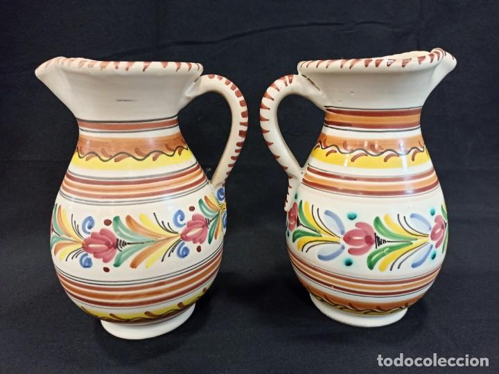 Antigüedades: Pareja de jarras de cerámica. Puente del Arzobispo. C10 - Foto 2 - 205513037