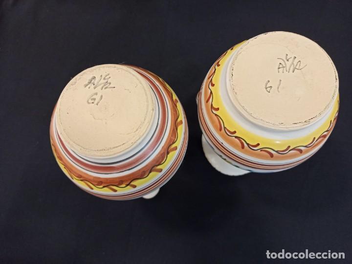Antigüedades: Pareja de jarras de cerámica. Puente del Arzobispo. C10 - Foto 5 - 205513037