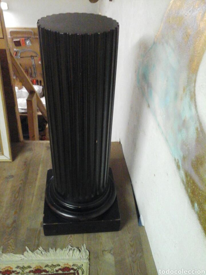 Antigüedades: Pareja de peanas de madera lacada - Foto 2 - 205514642
