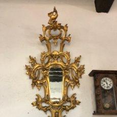 Antigüedades: ESPEJO CORNUCOPIA EN PAN DE ORO DE TRAN TAMAÑO 1800'S. Lote 205520940