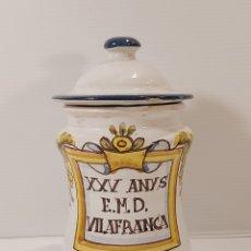 Antigüedades: BOTE DE FARMACIA O ALBARELO DE POBLET, VILAFRANCA. REPRODUCCIÓN. Lote 205530353