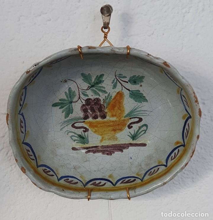 BOL DE CERAMICA DE ALCORA - FRUTERO - 8 X 21 X 17,5 CM. (Antigüedades - Porcelanas y Cerámicas - Alcora)