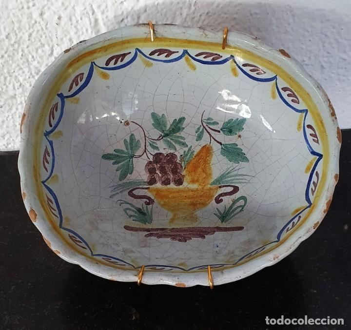 Antigüedades: BOL DE CERAMICA DE ALCORA - FRUTERO - 8 X 21 X 17,5 CM. - Foto 2 - 205535183