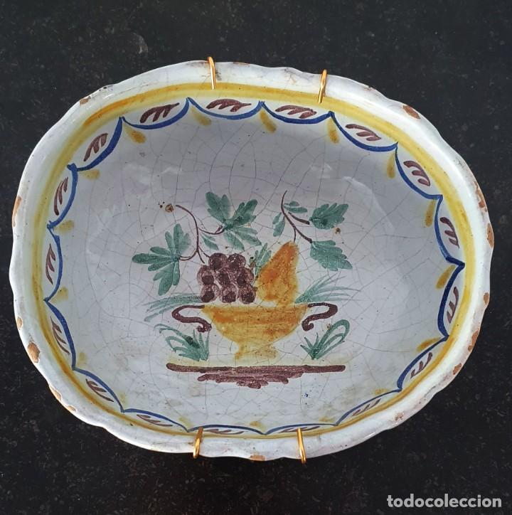 Antigüedades: BOL DE CERAMICA DE ALCORA - FRUTERO - 8 X 21 X 17,5 CM. - Foto 7 - 205535183