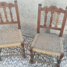 Antigüedades: ANTIGUAS SILLAS CASTELLANAS MADERA DE HAYA. Lote 205536128