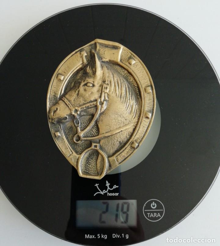Antigüedades: Antigua PLAQUE Caballo Bronce Excelente Pieza de Decoración Años 50-60 - Foto 4 - 205541011