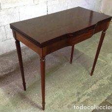 Antigüedades: MESA DE JUEGO ISABELINA 1850 .CAOBA SIGLO XIX.. ORIGINAL. Lote 205544046