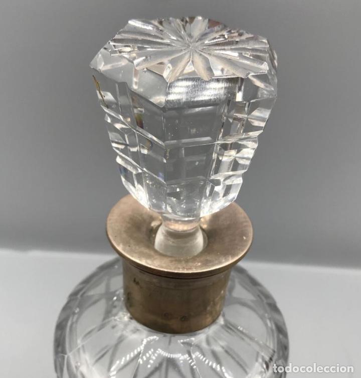 Antigüedades: Licorera de cristal con cuello en plata española. - Foto 4 - 205558676