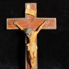 Antigüedades: CRISTO TERRACOTA. Lote 205559071
