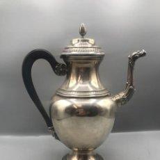 Antigüedades: CAFETERA DE PLATA ESPAÑOLA CON SUS CONTRASTES, 800GR.. Lote 205562793
